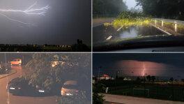 Ulewne deszcze, gwałtowne burze