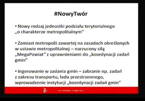 Nowy twór według władz Warszawy Urząd Miasta