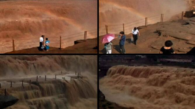 Chiński cud natury. Powódź zamienia wodospad w turystyczną atrakcję