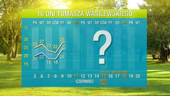 Prognoza pogody na 16 dni: <br /> będą trzy fale gorąca