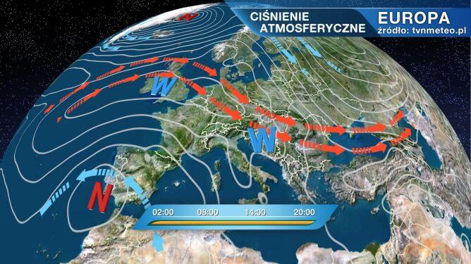 Chłodne powietrze i porywisty wiatr. <br />Joyce wpływa na pogodę w Polsce