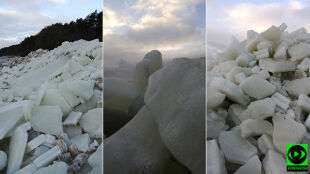 """""""Góry lodowe"""" na Mierzei Wiślanej"""