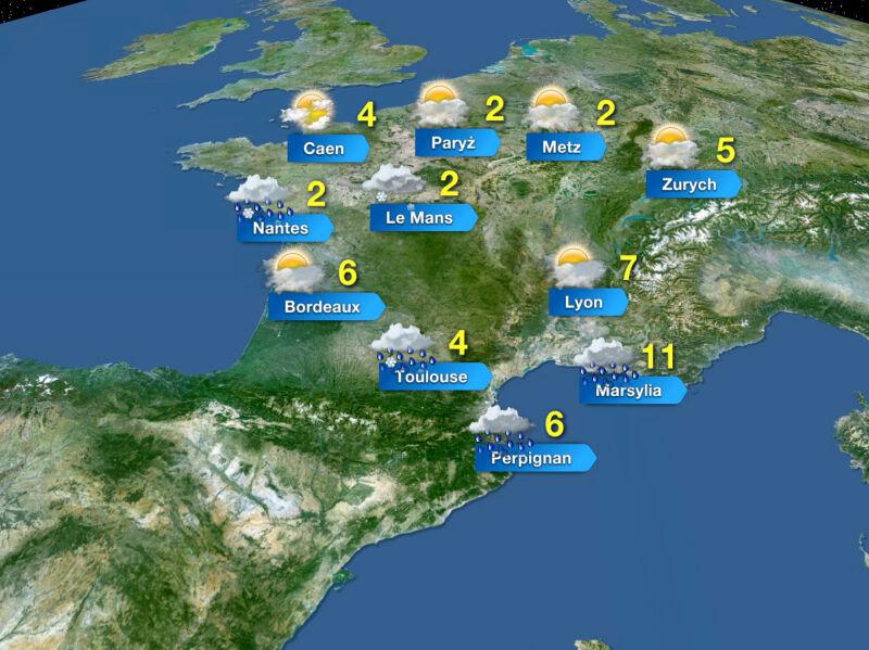 Prognoza pogody we Francji