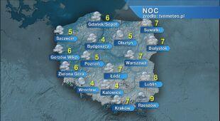 Prognoza pogody na noc 30/31.03