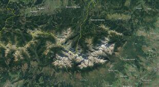 Lokalizacja wypadku w Tatrach