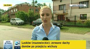 Po wichurze w Laskowie (TVN24)