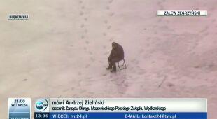Ekspert o wędkowaniu na cienkim lodzie (TVN24)