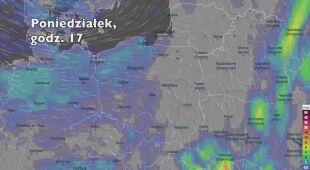 Opady w ciągu kolejnych pięciu dni (Ventusky.com) (wideo bez dźwięku)