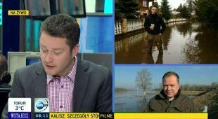 Alarm powodziowy w płockich gminach (TVN24)